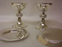Examples of ecclesiastical silver produced to a clients particular requirements