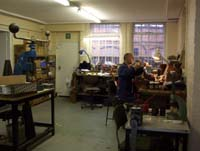The main workshop where the designs are hand crafted